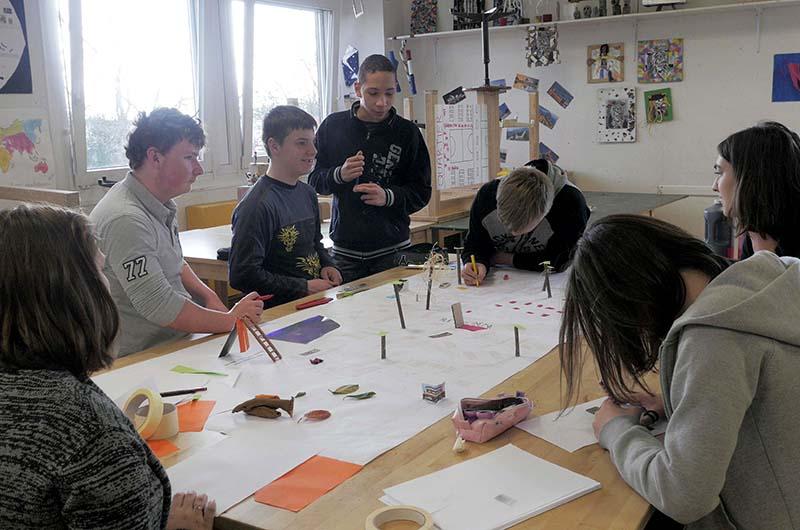 YA+K - yaplusk -Avranches - ateliers au collège (4)