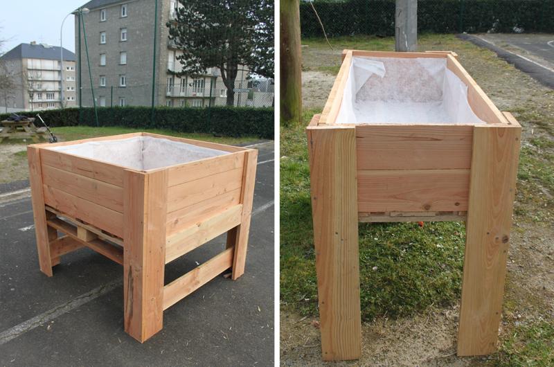 YA+K - yaplusk - Avranches - bacs à jardiner co-construits avec les habitants