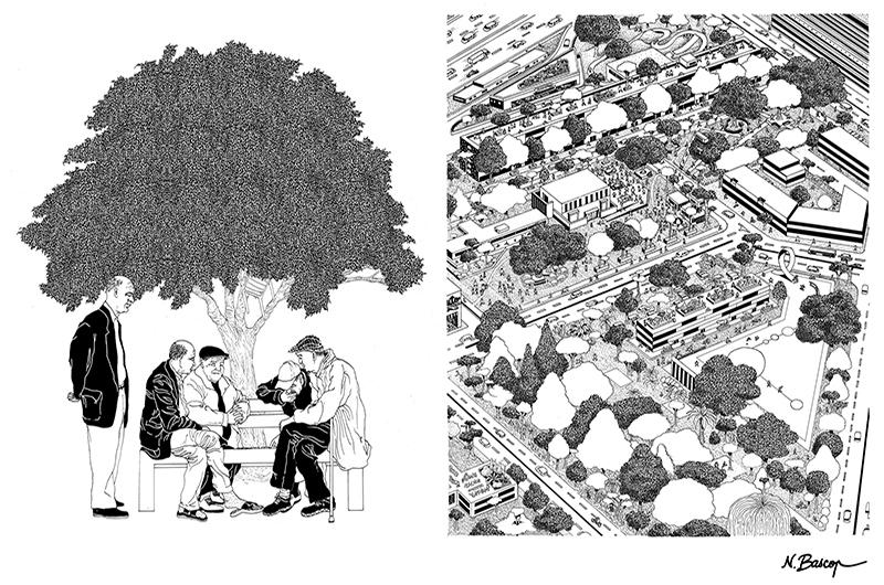 YA+K - yaplusk - La Courneuve - les 4000 arbres