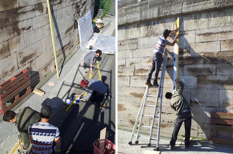 YA+K - yaplusk - montage du QR-code aux Berges de Seine (7)