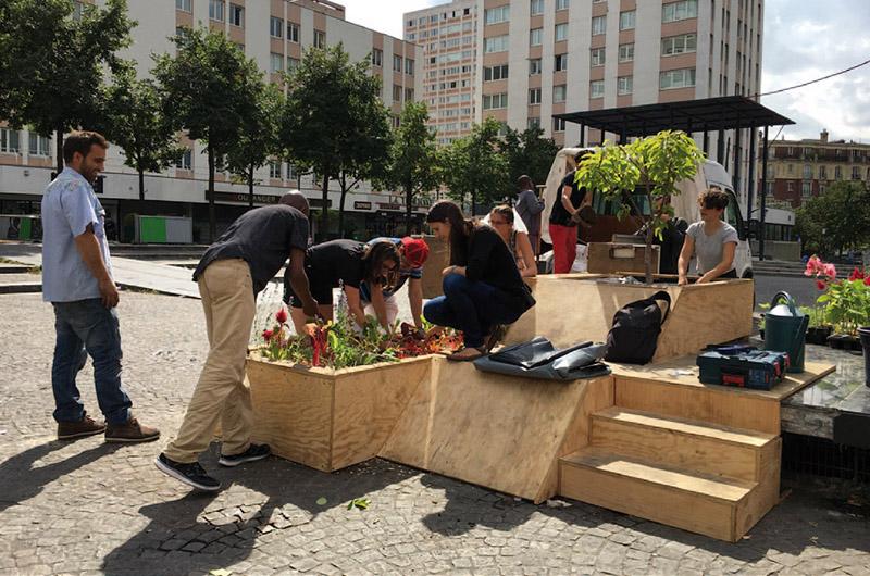 YA+K - yaplusk - Place des fêtes - co-construction des jardinières